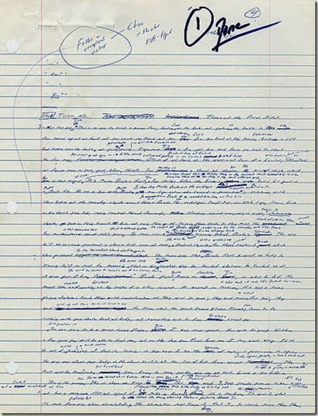 la prima pagina del manoscritto di infinite jest