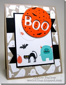 LeAnne Pugliese WeeInklings Boo Motley Monsters Halloween Stampin UP