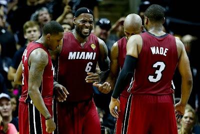 lebron james nba 140605 mia at sas 01 game 1 LeBron Cramps Up As San Antonio Wins the NBA Finals Opener
