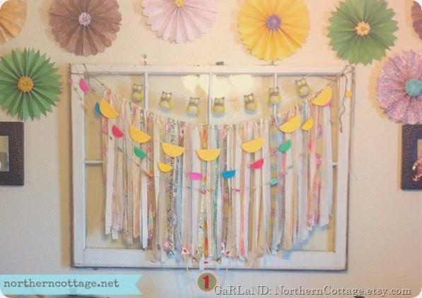 sweet shabby chic party garland