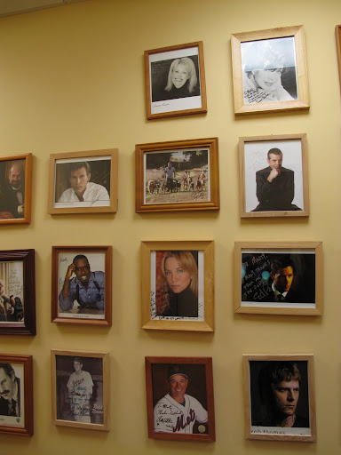 Dr. Marty has a wall of autographed photos of his celebrity pet owners.  Where's Martha's picture?