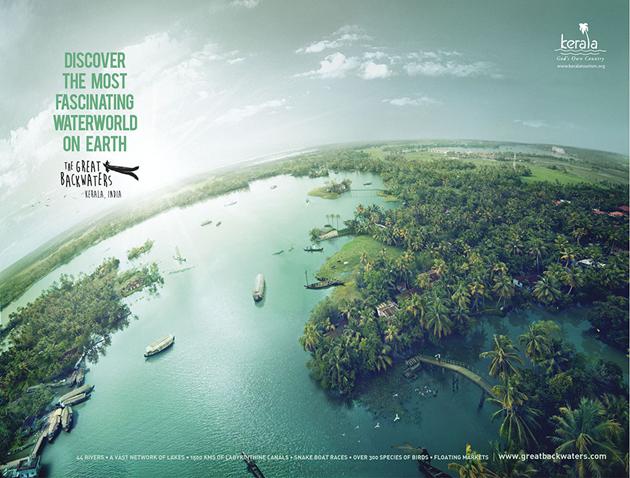 Backwaters of Kerala at Alappuzha