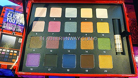 Smashbox Holiday 2011 Collection  Click You're It Eye Palette 15 eye shadows, 5 cream eye liners, mini photo finish lid primer