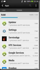 Service app includes a service