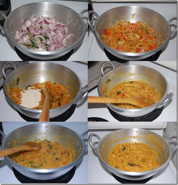 Onion kurma process