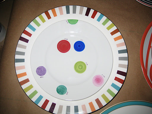 So many good colors on one plate! Well two, actually. The larger, striped one is by Missoni and it's called