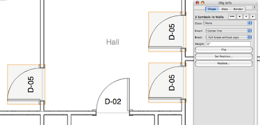 architectural drafting in vectorworks adding doors of