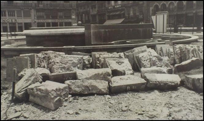obras en la ciudad plaza de la reina años 60