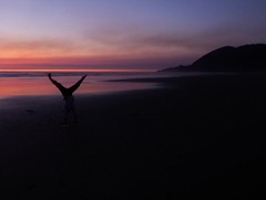 Sunset handstand.