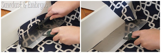 Lining Drawers with Fabric {Sawdust and Embryos}