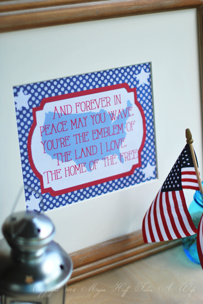 Patriotic printable The home of the free