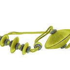 Nowoczesna obejma dekoracyjna do zasłon i tkanin z magnesem. Zielona.