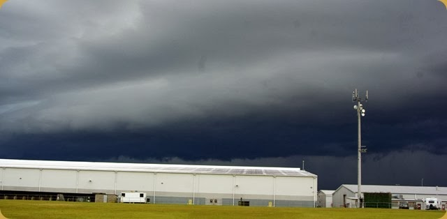 Pine Rivers Showgrounds - incoming storm!!