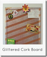 glittered corkboard