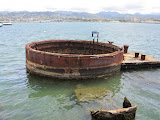 The only part of the USS Arizona that is above water