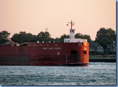3717 Ontario Sarnia - St Clair River at sunset - Great Lakes Trader barge being pushed by the tug Joyce L. VanEnkevort