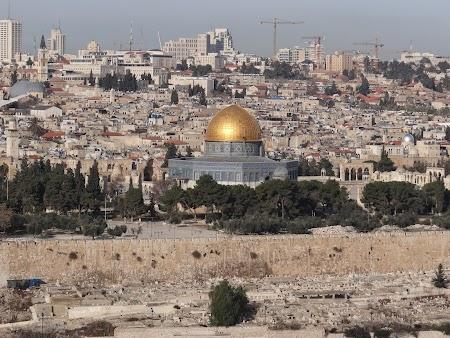 Obiective turistice Ierusalim: Panorama Muntele Maslinilor