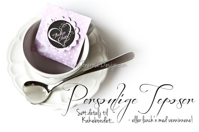 lag søte teposer til Valentines dag