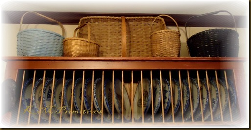 Basket on hutch