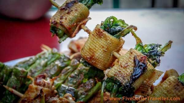 Cilantro wrapped in Tofu, China