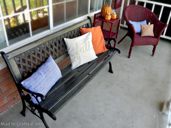 Front Porch Fall Colors fall pillow slipcovers