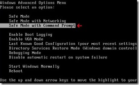 safemode COMMAND PROMPT