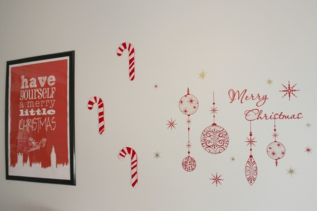 Candy canes on the wall