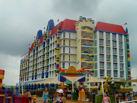 Even the hotel in Legoland is made out of Lego - Giant Lego!