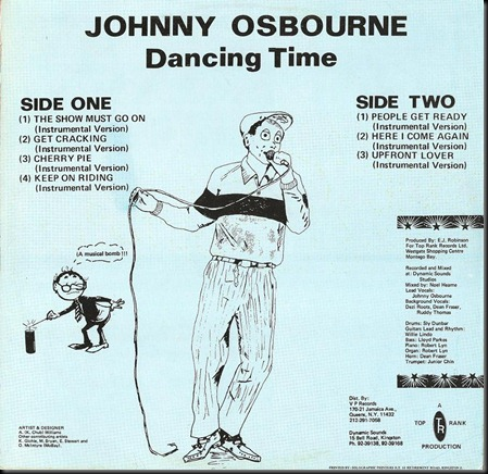 Johnny Osbourne - Dancing Time - back