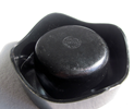 Helit Sinus ashtray black imprint