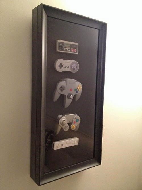 Mounted Video Game Controllers Display from Video Game Thoughts