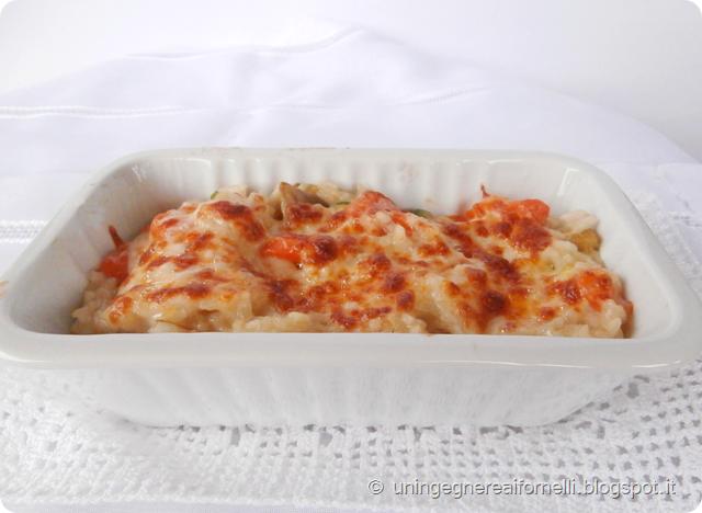 riso forno verdure risotto provola carote zucchine carciofi