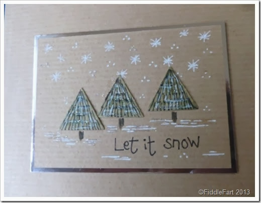 Let it snow Christmas card.