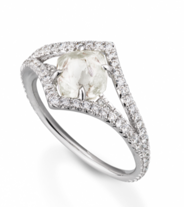Fashion Diamond In The Rough Engagement Rings