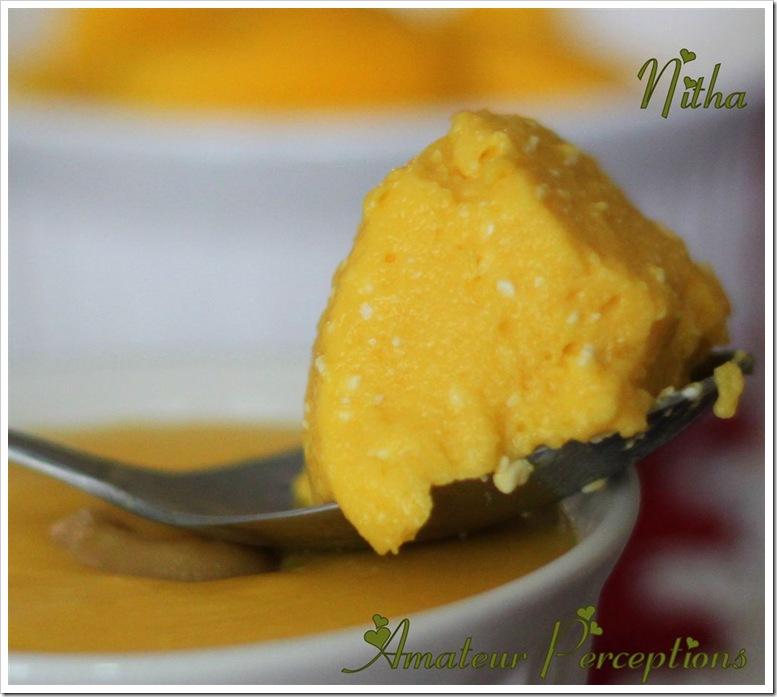 Mango and cheese pudding 3