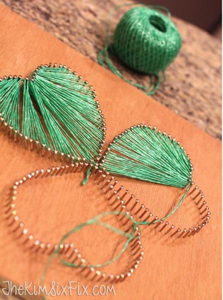 String art shamrock