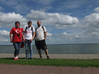 Con Dalia y Sergei en Juodkrantė