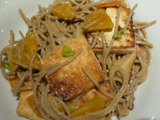 Soba Noodles with Tofu and Peanut Sauce