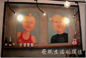 台南mumu小客廳早午餐內部的裝潢佈置。