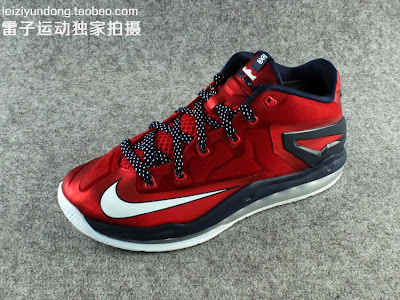 nike lebron 11 low gr red black 1 08 This LeBron 11 Low Dipped in USA Colors Drops in June