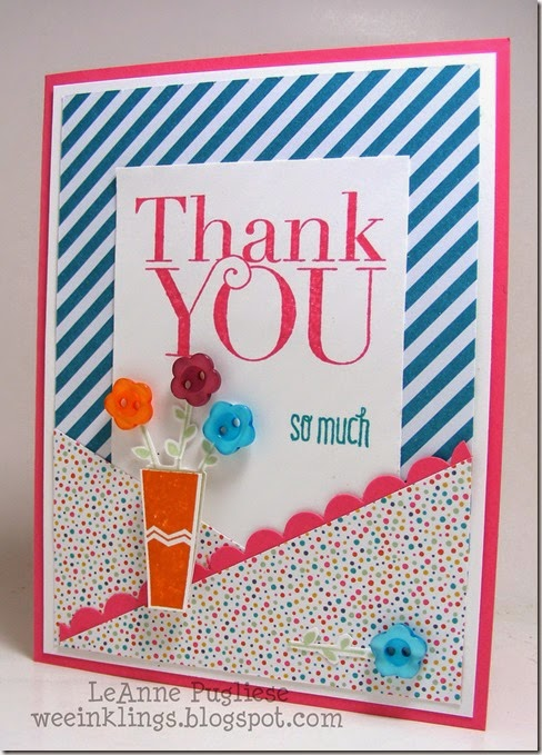 LeAnne Pugliese WeeInklings Paper Players 207 Thank You Pictogram PUnches Stampin Up