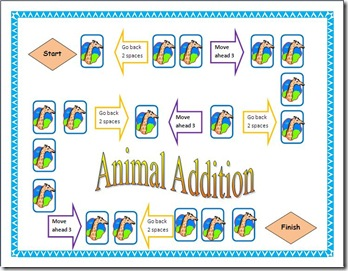 animal Addition screen