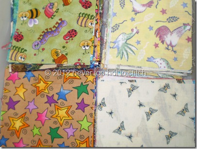 fabrics for I Spy quilt