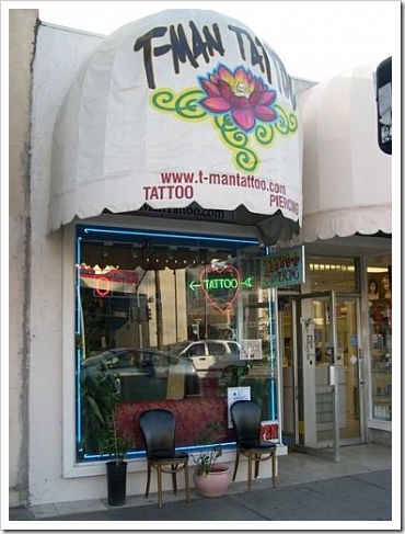 T-Man Tattoo Shop - 12216 Ventura Blvd., Studio City, CA 91604.