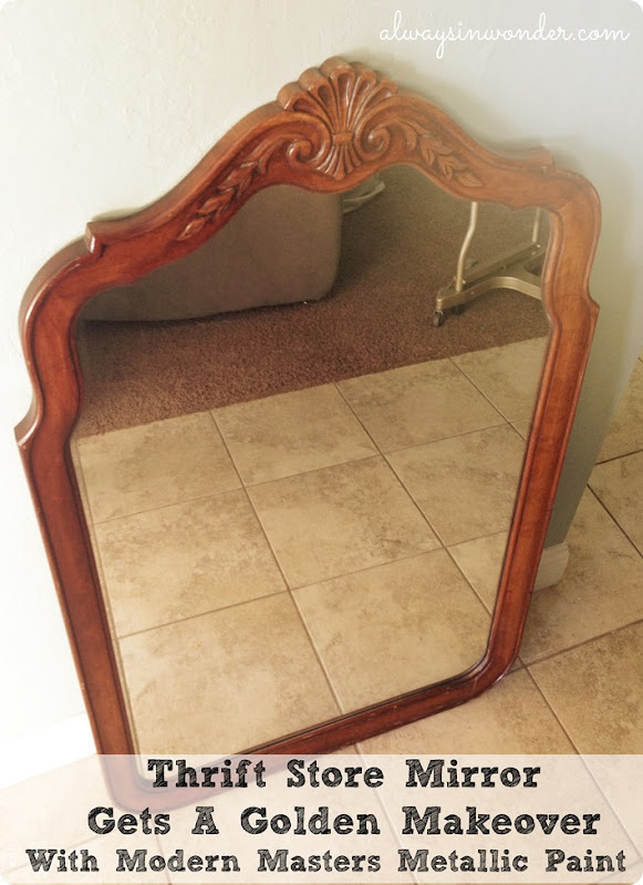 Thrift Store Mirror Painted with Modern Masters Paint
