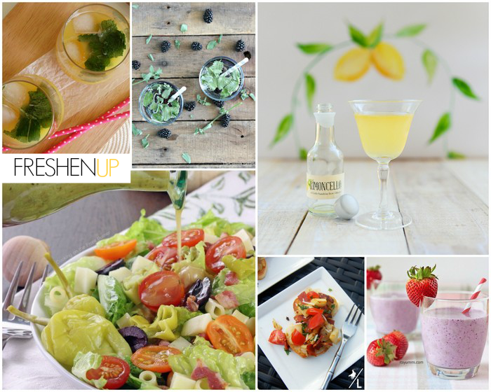 Features from homework : FRESHEN UP (refreshing drinks, salads and more)