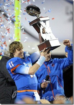 The last trohpy Detroit Lions quarterback Kellen Moore will ever hoist.