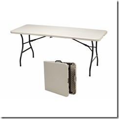 Table folded