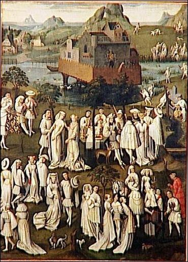 Ecole française,Fête champêtre à la cour de Philippe le Bon Vers 1550