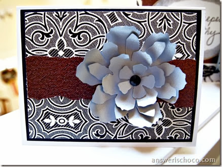 Sympathy Note Tim Holtz Flower